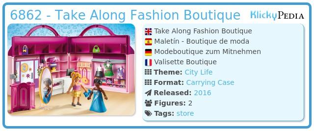 Playmobil 6862 - Take Along Fashion Boutique