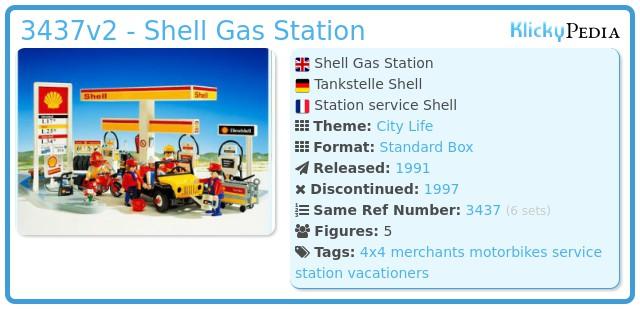 Playmobil 3437v2 - Shell Gas Station