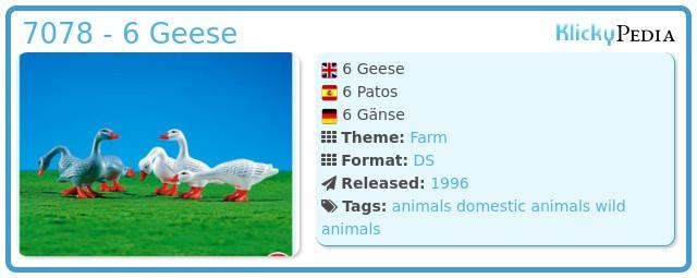 Playmobil 7078 - 6 Geese