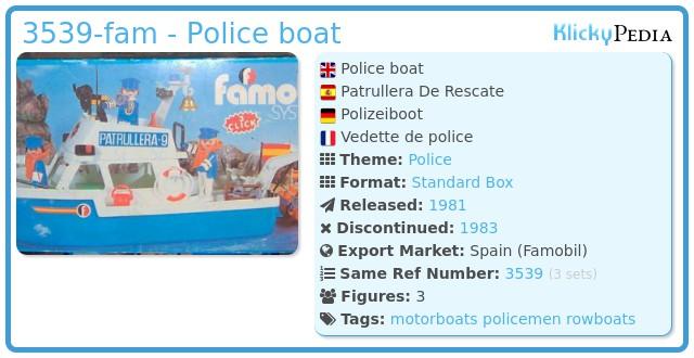 Playmobil 3539-fam - Police boat