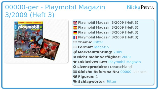 Playmobil 00000-ger - Playmobil Magazin 3/2009 (Heft 3)