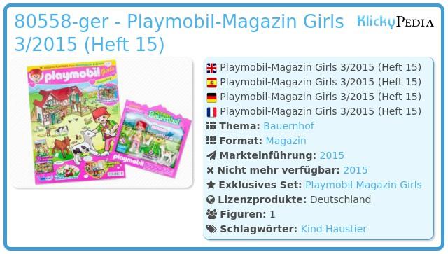 Playmobil 00000-ger - Playmobil Girls Magazin 03/2015 (Heft 15)