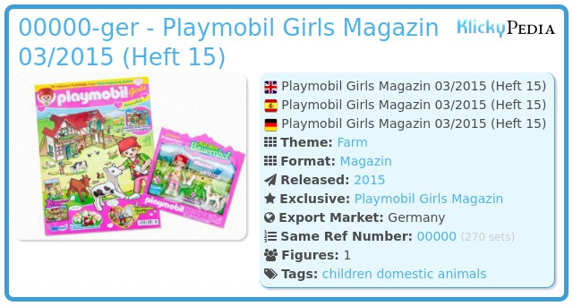 Playmobil 00000-ger - Playmobil Girls Magazin 03/2015 (Heft 15)