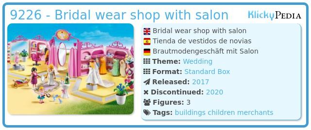 Playmobil 9226 - Bridal wear shop with salon