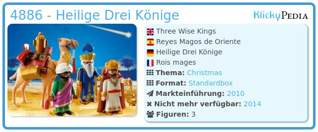 Playmobil 4886 - Heilige Drei Könige