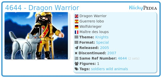 Playmobil 4644 - Dragon Warrior