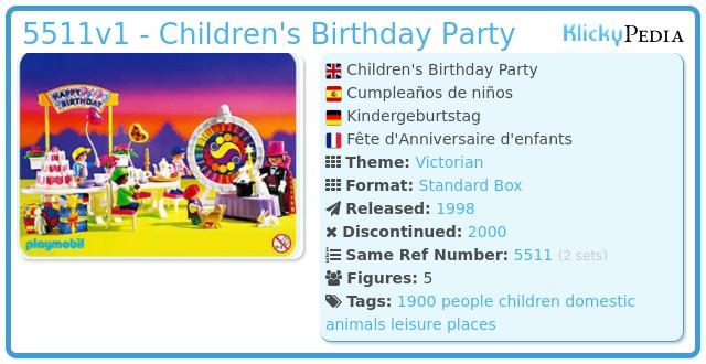 Playmobil 5511v1 - Children's Birthday Party
