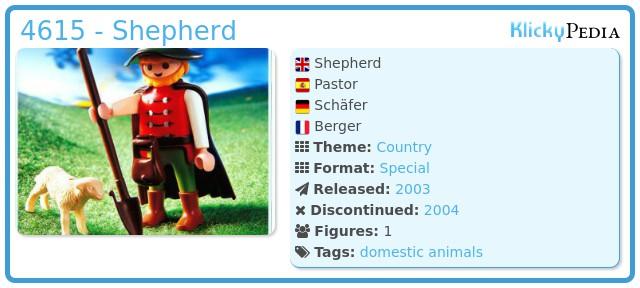 Playmobil 4615 - Shepherd