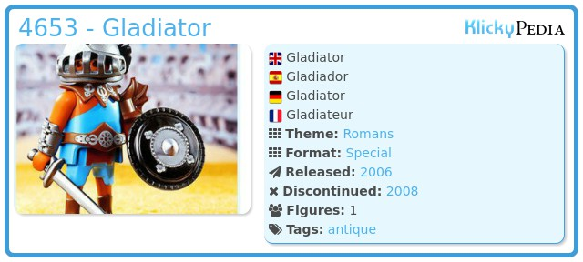 Playmobil 4653 - Gladiator