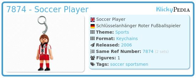 Playmobil 7874 - Soccer Player