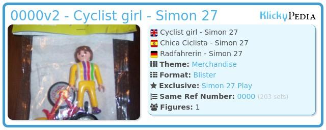 Playmobil 0000v2 -  Cyclist girl - Simon 27