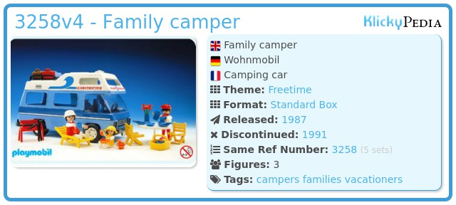 Playmobil 3258v4 - Family camper