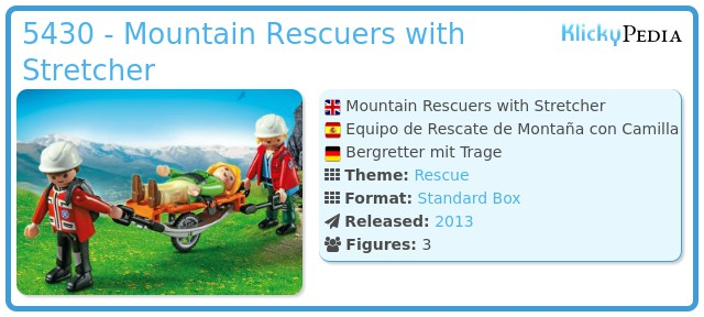 Playmobil 5430 - Mountain Rescuers with Stretcher