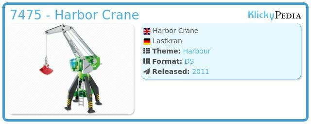Playmobil 7475 - Harbor Crane