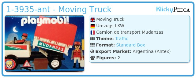 Playmobil 1-3935-ant - Moving Truck