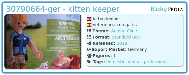 Playmobil 30790664-ger - kitten keeper