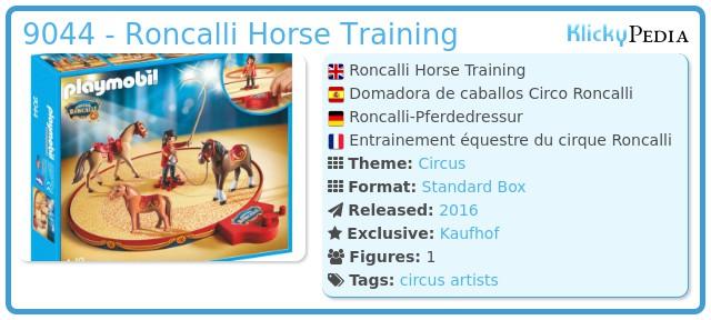 Playmobil 9044 - Roncalli Horse Training