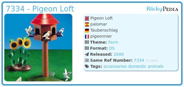 Playmobil 7334 - Pigeon Loft