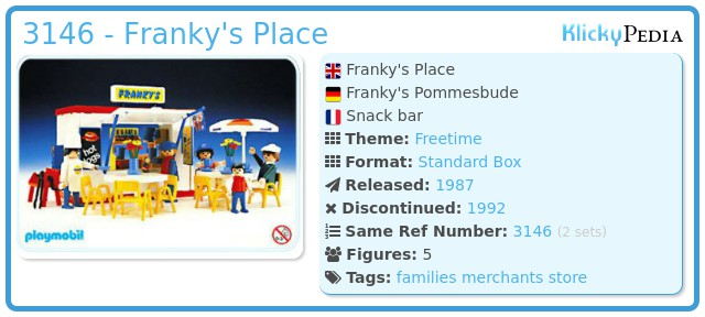Playmobil 3146 - Franky's Place