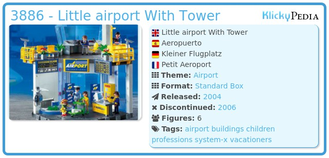 Playmobil 3886 - Little airport  With Tower