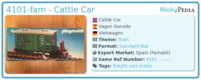 Playmobil 4101-fam - Cattle Car
