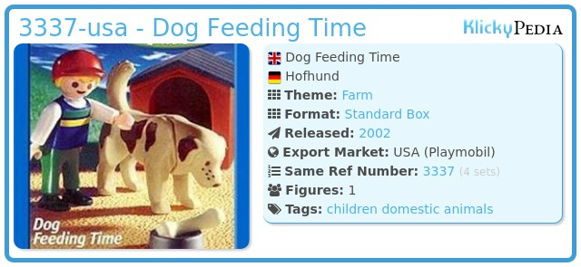 Playmobil 3337-usa - Dog Feeding Time