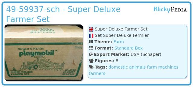Playmobil 49-59937-sch - Super Deluxe Farmer Set