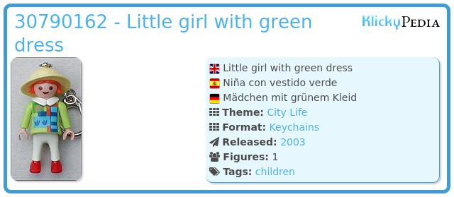 Playmobil 30790162 - Little girl with green dress