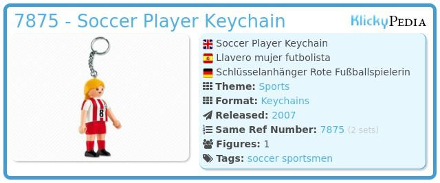 Playmobil 7875 - Soccer Player Keychain