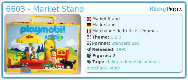 Playmobil 6603 - Market Stand