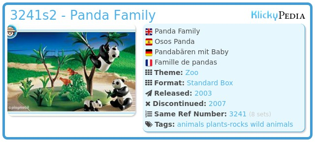 Playmobil 3241s2 - Panda Family