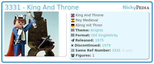 Playmobil 3331 - King And Throne