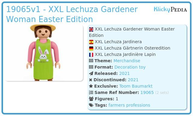 Playmobil 4081586 - XXL Lechuza Gardener Woman Easter Edition