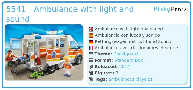 Playmobil 5541 - Ambulance with light and sound