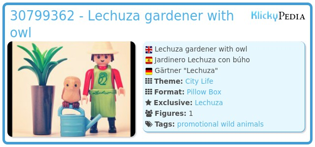 Playmobil 30799362 - Lechuza gardener with owl
