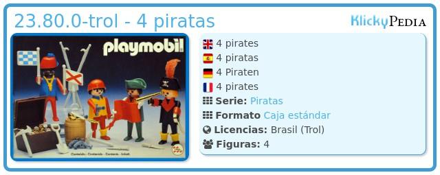 Playmobil 23.80.0-trol - 4 piratas