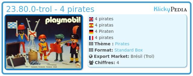 Playmobil 23.80.0-trol - 4 pirates
