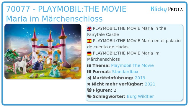 Playmobil 70077 - PLAYMOBIL:THE MOVIE Marla im Märchenschloss