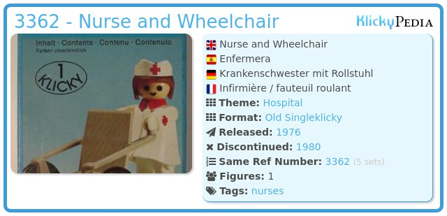 Playmobil 3362 - Nurse and Wheelchair