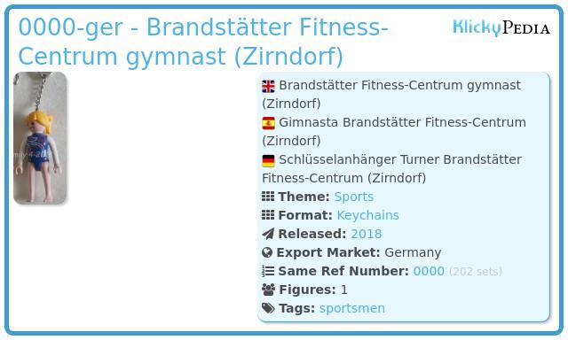 Playmobil 0000-ger - Brandstätter Fitness-Centrum gymnast (Zirndorf)