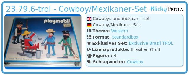 Playmobil 23.79.6-trol - Cowboy/Mexikaner-Set
