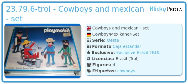 Playmobil 23.79.6-trol - Cowboys and mexican - set