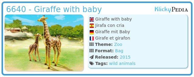 Playmobil 6640 - Giraffe with baby