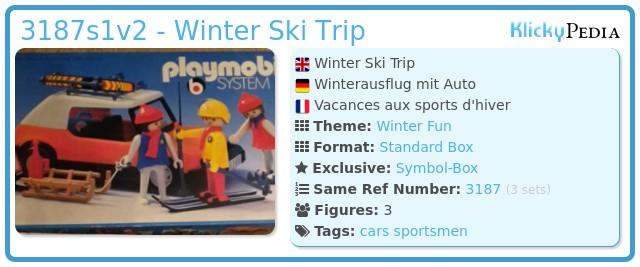 Playmobil 3187s1v2 - Winter Ski Trip