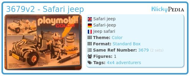 Playmobil 3679v2 - Safari jeep