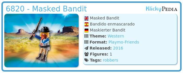 Playmobil 6820 - Masked Bandit