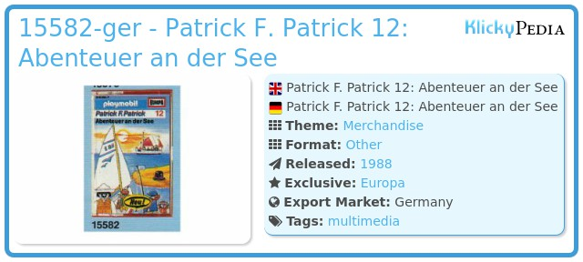 Playmobil 15582-ger - Patrick F. Patrick 12: Abenteuer an der See