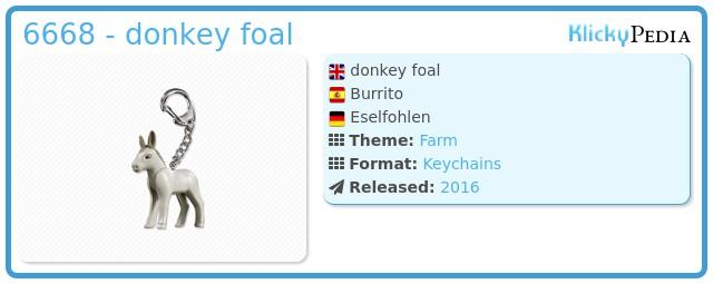 Playmobil 6668 - donkey foal