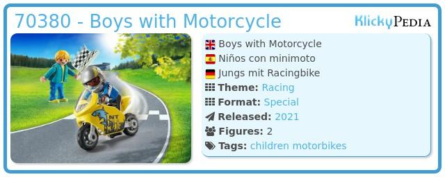 Playmobil 70380 - Kids with minibike