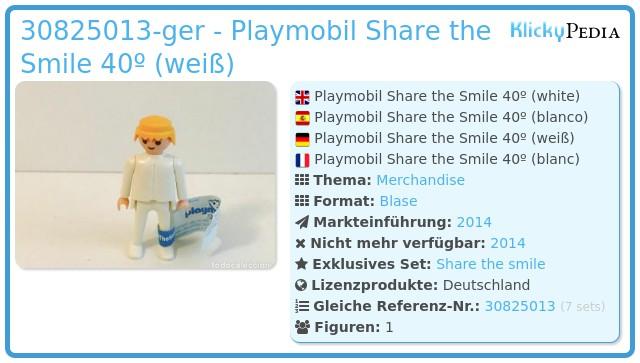 Playmobil 30825013-ger - Playmobil Share the Smile 40º (weiß)